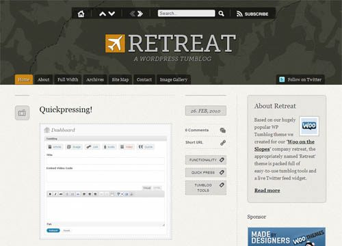 Retreat Microblog Premium WordPress Theme