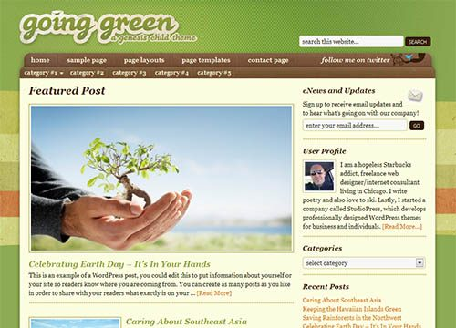Going Green Premium WordPress Theme