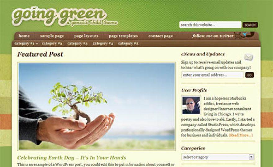 Going Green Premium WordPress Theme
