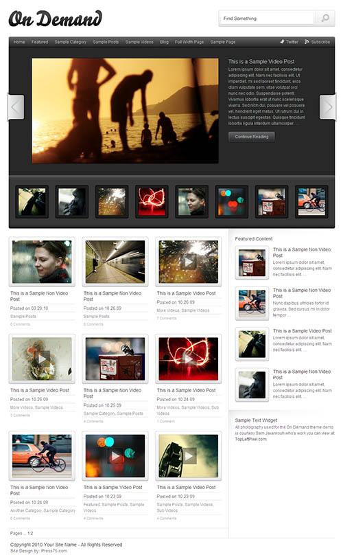 On demand 2 0 video wordpress theme for Premium on demand