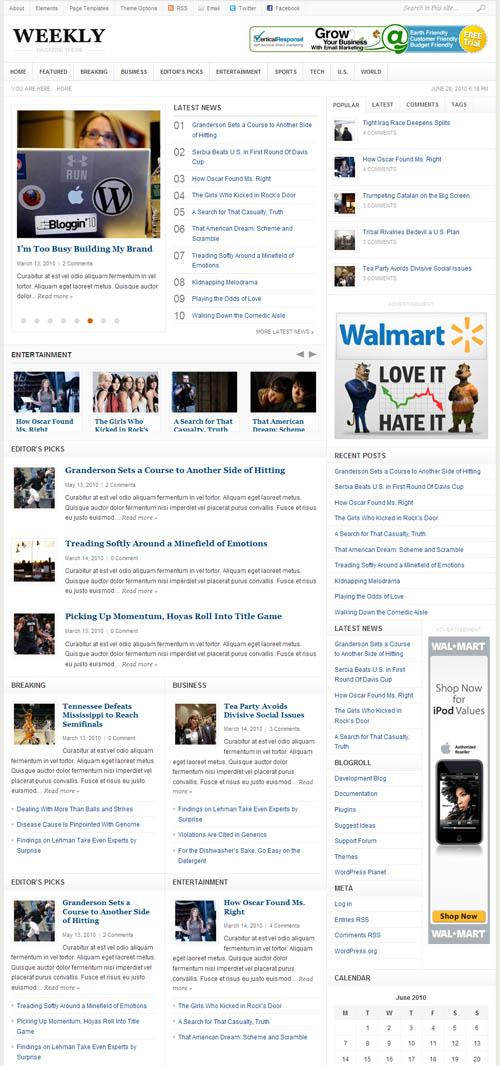 Weekly News Portal WordPress Theme