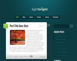 LightBright Microblog WordPress Theme