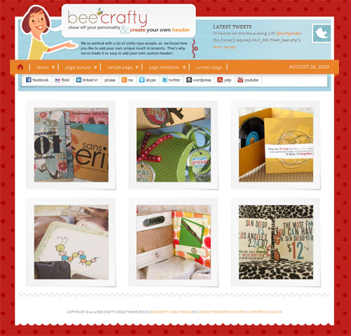 Bee Crafty Premium WordPress Theme