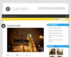 Crisp Micro-Blog WordPress Theme