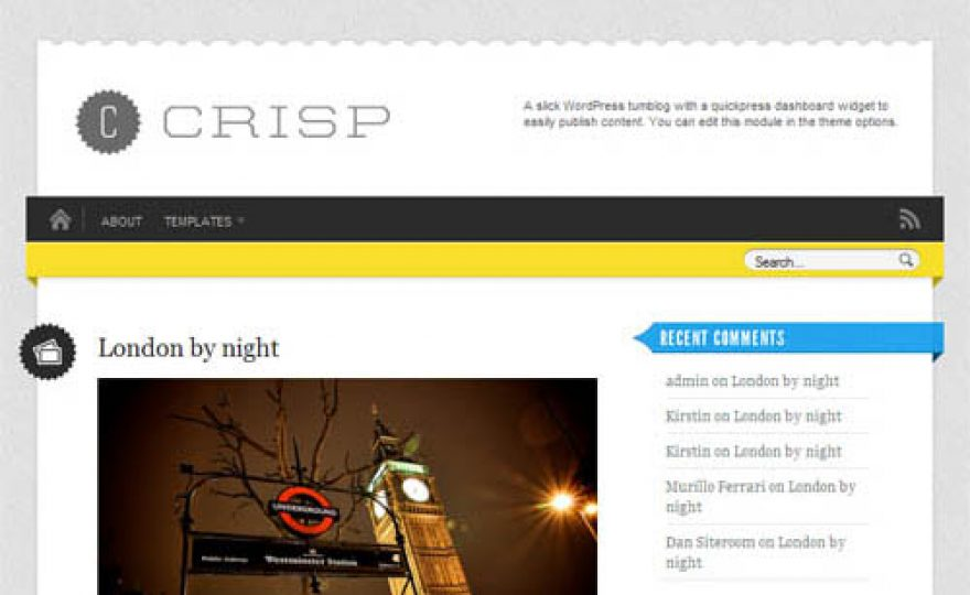 Crisp Micro-Blog Premium WordPress Theme
