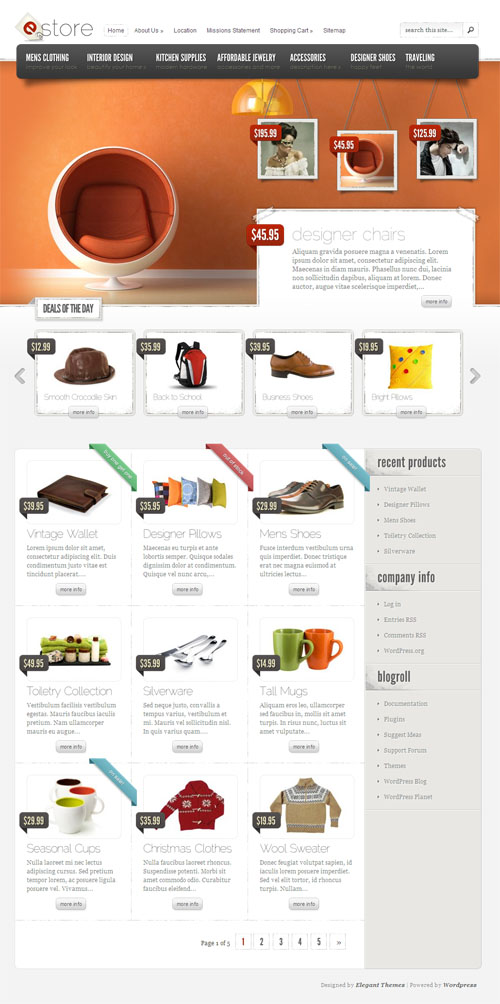 eStore Premium WordPress Ecommerce Theme