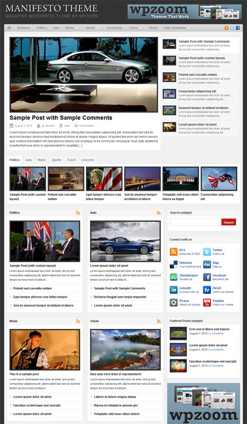 Manifesto Magazine Premium WordPress Theme