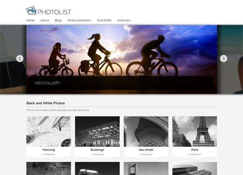 Photolist Premium WordPress Theme