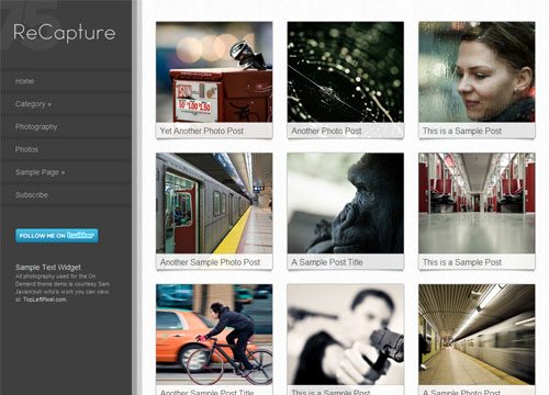 ReCapture Photography WordPress Theme