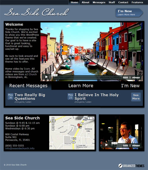 Sea Side Church WordPress Theme