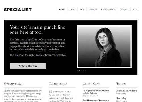 Specialist Premium WordPress Theme