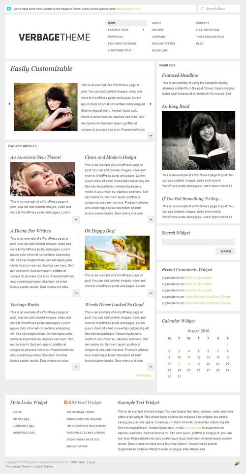 verbage wordpress theme