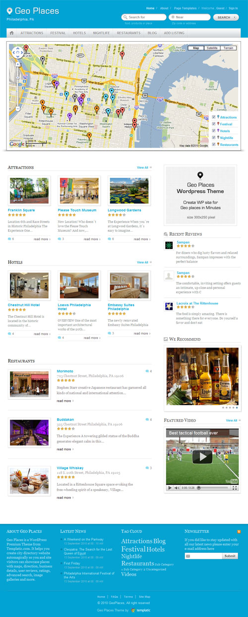 30+ Best Travel WordPress Themes 2018