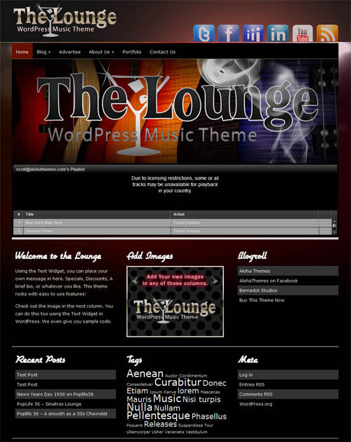 The Lounge Music WordPress Theme
