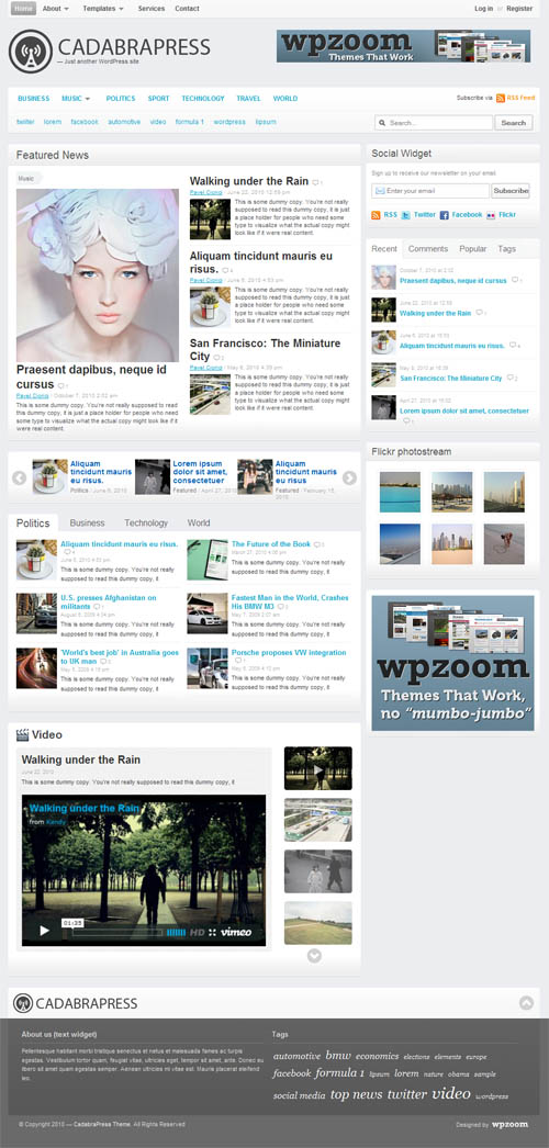 CadabraPress Magazine WordPress Theme