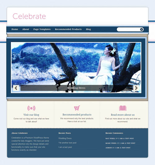 Celebrate Premium WordPress Theme
