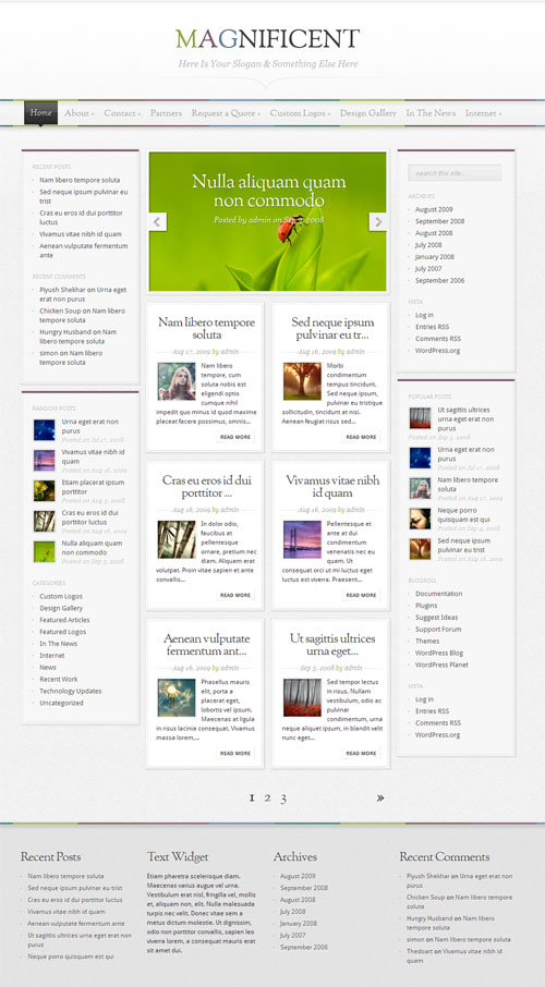Magnificent Magazine WordPress Theme
