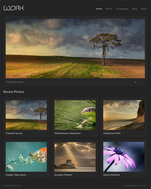 Work Portfolio Premium WordPress Theme