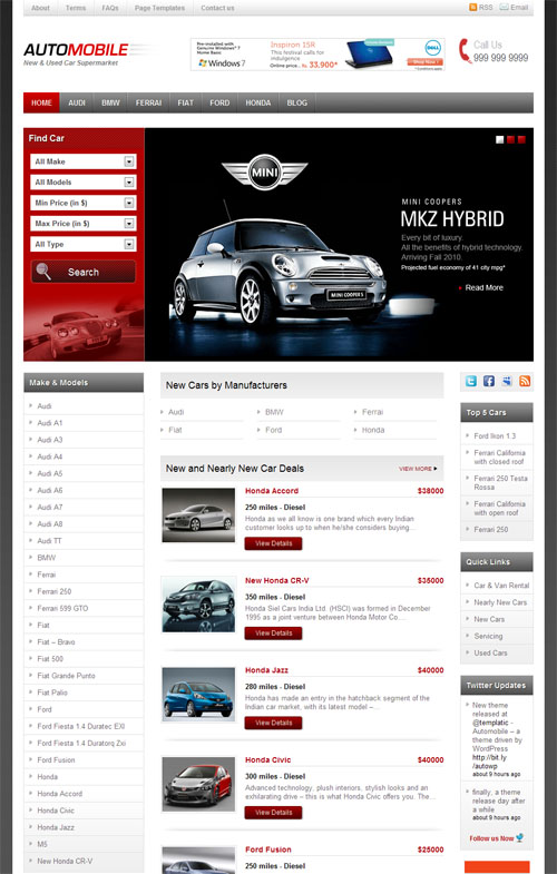 Automobile Premium WordPress Theme