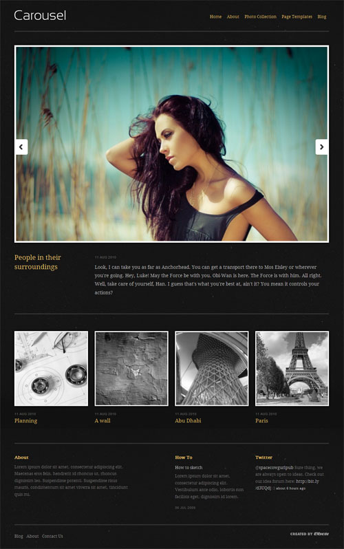 Carousel Photography Premium WordPress Theme