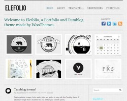 Elefolio Micro-blogging WordPress Theme