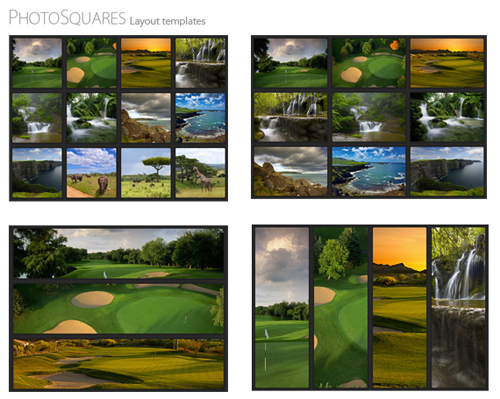 Photo Squares WordPress Theme Layouts