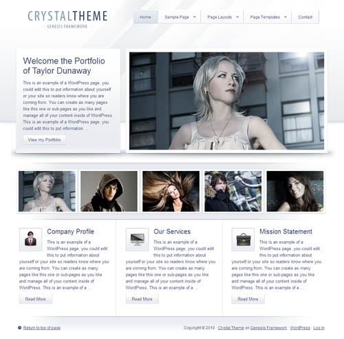 StudioPress Crystal Premium WordPress Theme