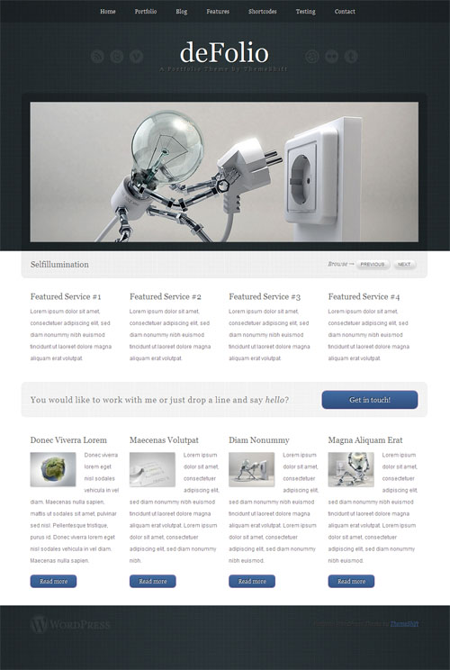 deFolio Premium WordPress Theme