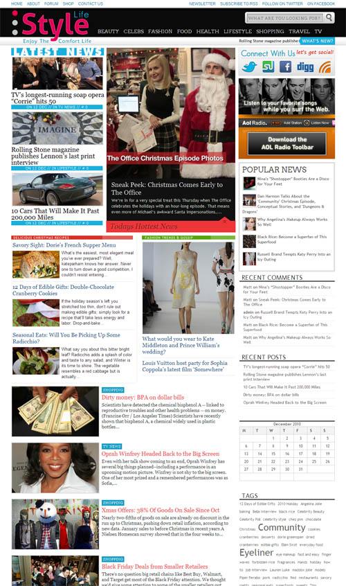 Fashion Style Wordpress Theme Style Life Wordpress Theme