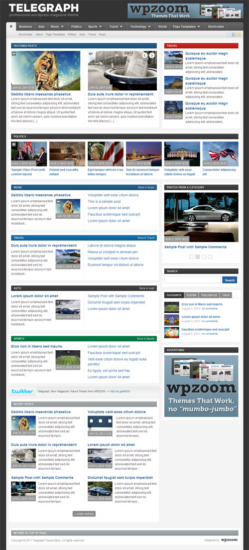 Telegraph Magazine Premium WordPress Theme