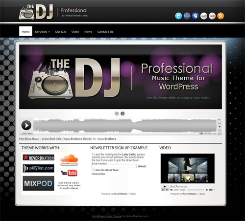 DJ WordPress Music Theme