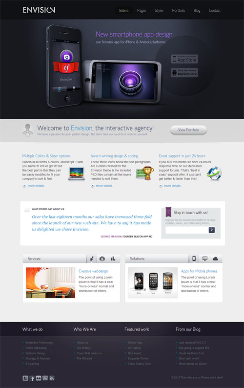 Envision Business Premium WordPress Theme
