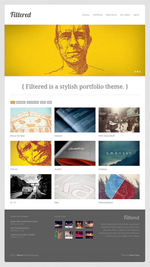 Filtered Portfolio Premium WordPress Theme