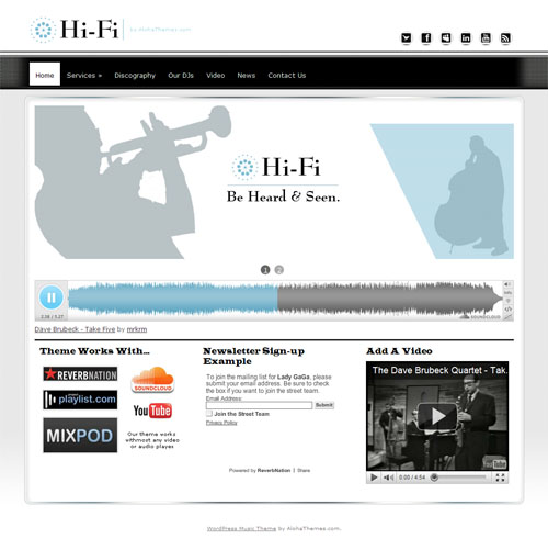 HiFi Music WordPress Theme