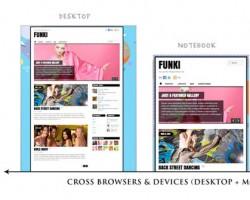 funki theme responsive design
