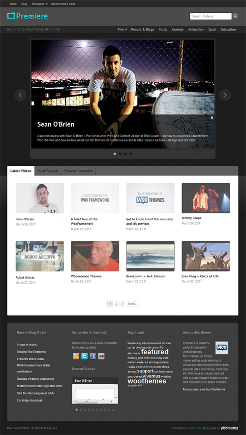 Premiere Video WordPress Theme