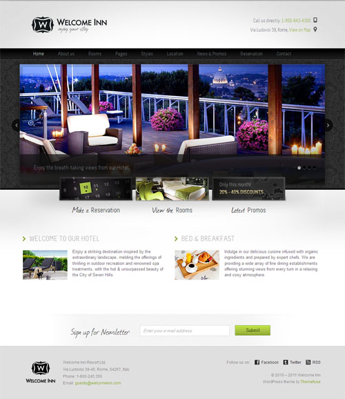 Welcome Inn Hotel WordPress Theme