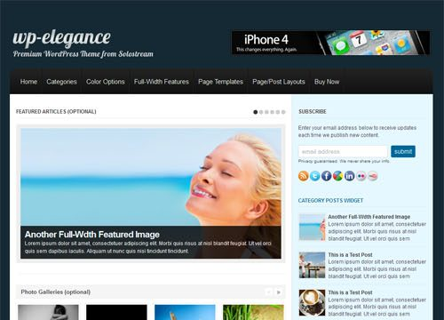 WP Elegance Premium WordPress Theme
