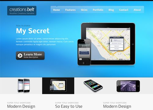 Creations Belt Premium WordPress Theme