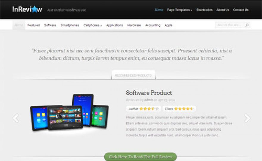 In Review Premium WordPress Theme