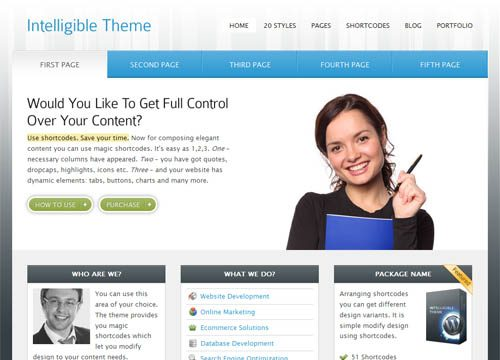 Intelligible Premium WordPress Theme