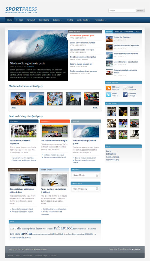 Sport Press Magazine WordPress Theme
