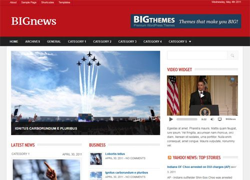 Big News Magazine WordPress Theme