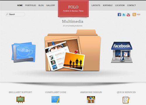 Folio – Business Portfolio WordPress Theme