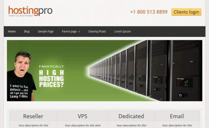 Web Hosting Pro WordPress Theme