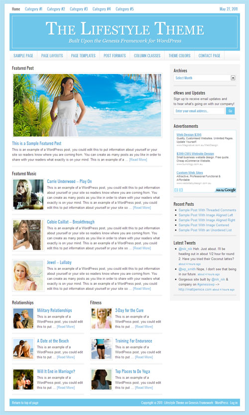 Lifestyle WordPress Child Theme