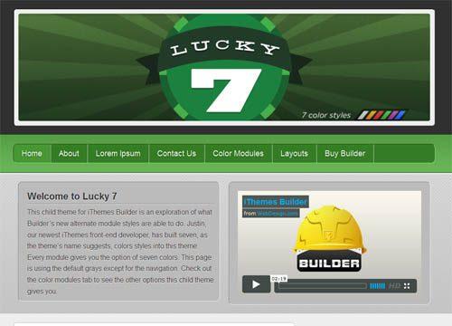 Lucky 7 Builder Framework Child Theme