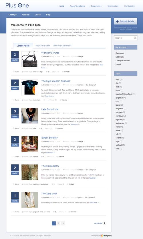 Plus One WordPress Social Community Theme
