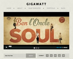 Gigawatt Video Blog WordPress Theme