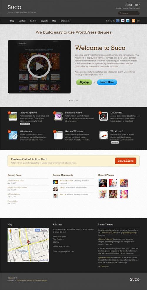 Suco Business Premium WordPress Theme